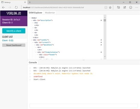 Why We Made vorlon.js and How to Use it to Debug your JavaScript Remotely | Javalobby | webDev | Scoop.it