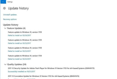 windows 10 update failed to install 1709