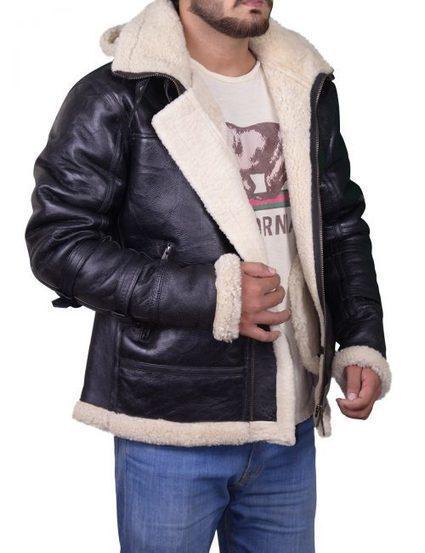 58ddbbdbeb B3 Bomber Shearling Sheepskin Leather Jacket