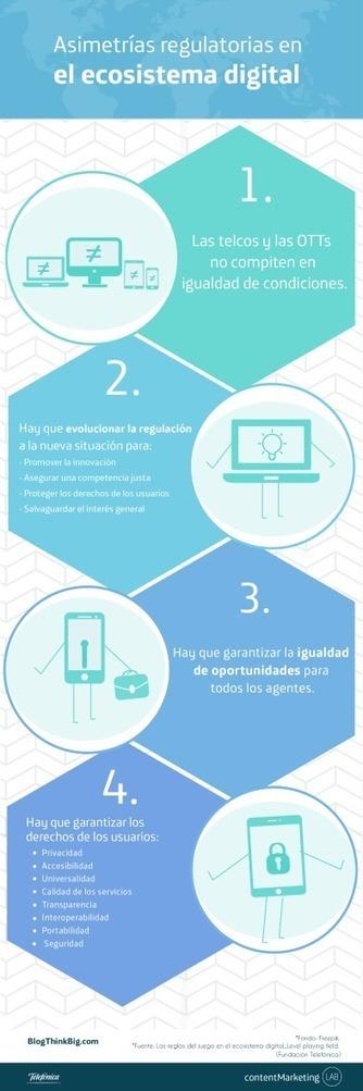 Asimetrías normativas en el ecosistema digital [Infografía] | Bichos en Clase | Scoop.it