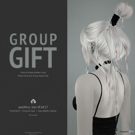Hair No.48 January 2017 Group Gift by (red) Mint | Teleport Hub - Second Life Freebies | Second Life Freebies | Scoop.it