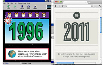 Internet of Yesterday & Today: 1996 vs. 2011 [INFOGRAPHIC] | Psychology of Consumer Behaviour | Scoop.it