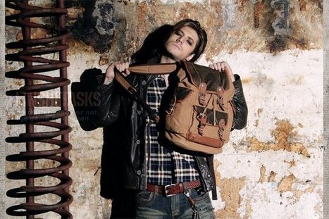 vintage leather and canvas rucksack for hiker | Womens fashion | Scoop.it