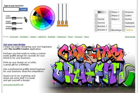 The Graffiti Creator A Free Online Flash Appl