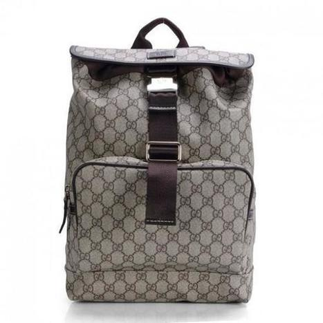 14bdac6e72a034 Gucci Coffee Gg Pvc Fabric Medium Backpack Bag MT1418716622250 | replica  chanel blog | Scoop.