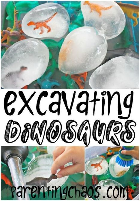 Excavating Dinosaurs from Ice! | Learn through Play - pre-K | Scoop.it