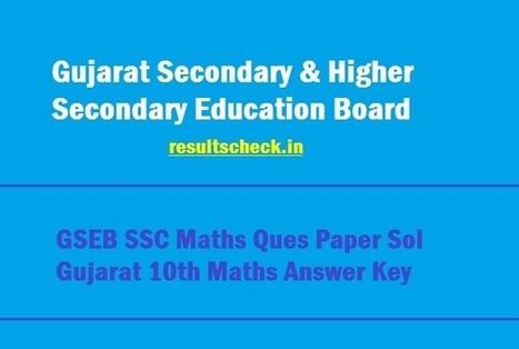 GSEB SSC Maths Answer Key 2019 જુ&#