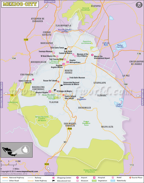 Map of Mexico City\' in maps | Scoop.it