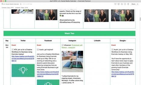 Comment booster la productivité de vos activités sur les réseaux sociaux avec Evernote - Evernote en français | Evernote, gestion de l'information numérique | Scoop.it