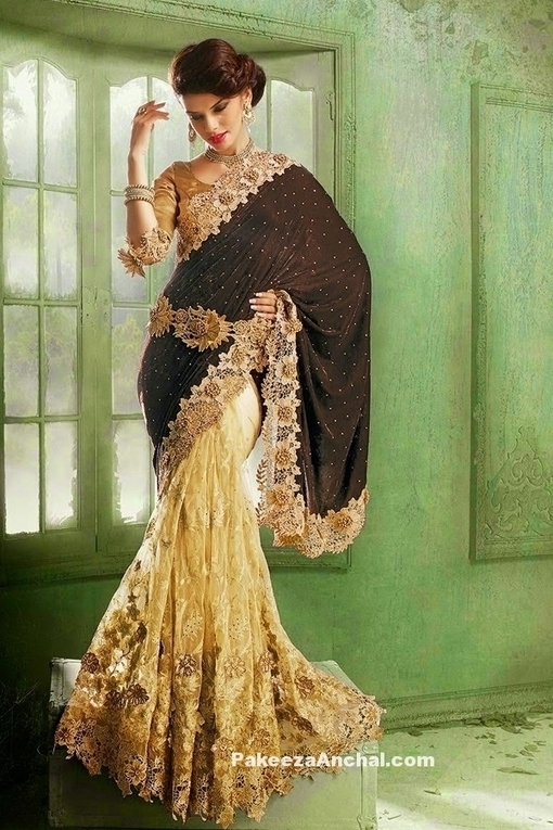 Luxurious Designer Party Wear Velvet Saree For