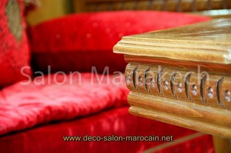 décoration salon marocain rouge pas cher...