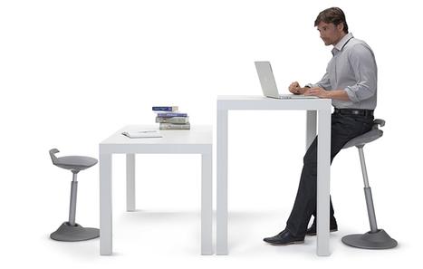 Le Muvman Position Assis Debout Au Bureau En Atelier Ou Magasin