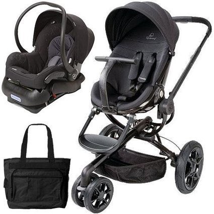 e7394e4cd Top Review Quinny Moodd Stroller Travel system with diaper bag and car seat  - Black Devotion