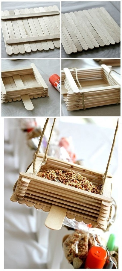 101 Gardening: Popsicle Sticks Bird Feeders | Backyard Gardening | Scoop.it