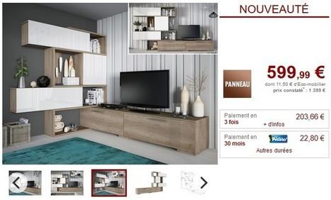 Mur TV modulable avec rangements NICOSIA pas ch...