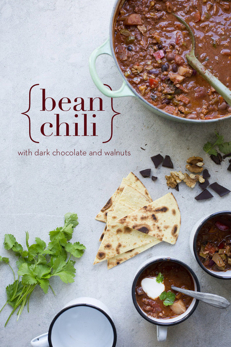 Green Kitchen Stories » Bean Chili with Walnuts & Chocolate | thinking about food | Scoop.it