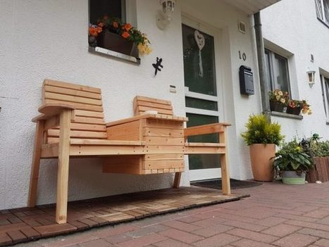 Magnificent Diy Garden Double Chair Bench With Cooler Myo Gamerscity Chair Design For Home Gamerscityorg