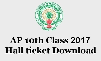 AP 10th Class 2017 Hall Tickets Download For Pu