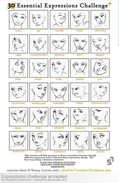 Facial expressions guide