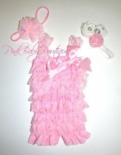 Baby Girl Light Pink Lace Petti Romper | Babies Shower Gifts | Scoop.it