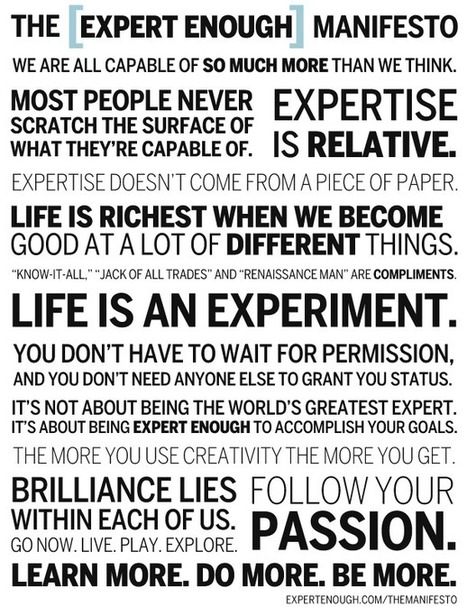 The Expert Enough Manifesto | Innovatus | Scoop.it