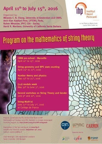 String Theory and Math: This Spring at the IHP | Women and science | Scoop.it