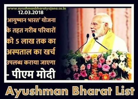Ayushman Bharat List 2018-19' in Ayushman Bharat | Scoop it