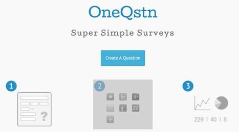 OneQstn. Créez un sondage le plus facilement du monde | Les outils du Web 2.0 | Scoop.it