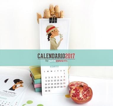 #Tutticonfetti - Calendario 2017 para descargar #gratis @Tutticonfetti de 12 mujeres de película | Pedalogica: educación y TIC | Scoop.it
