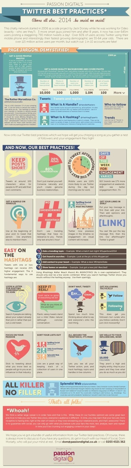 How to Use Twitter Better [Infographic] | Work From Home | Scoop.it