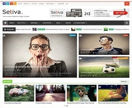 Setiva Responsive Blogger Template | Blogger themes | Scoop.it