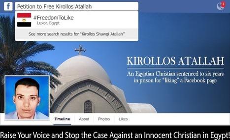 """Egypte, six ans de prison pour un """"like"""" sur facebook!   International...   Scoop.it"""