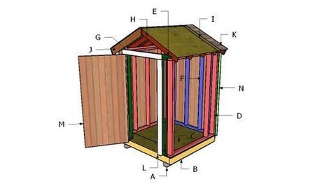 5x5 Shed Door Plans Howtospecialist How To