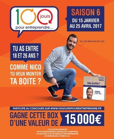 communiqué de presse - '100 jours pour entreprendre' : Le concours est ouvert du 15 janvier au 25 avril   #SimpleCRM   Scoop.it