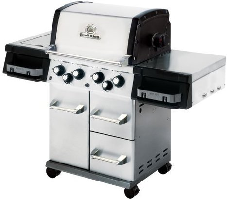 d7d6ac7e4 Broil King 956644 Imperial 490 Liquid Propane Gas Grill with Side Burner  and Rear Rotisserie