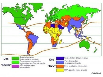 Nord / Sud, une représentation dépassée de la mondialisation ? | Géographie : les dernières nouvelles de la toile. | Scoop.it