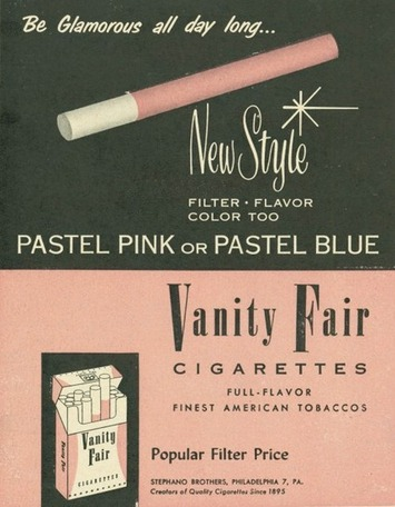 Filter, Flavor, Color Too With Glamorous Vanity Fair Cigarettes | Herstory | Scoop.it