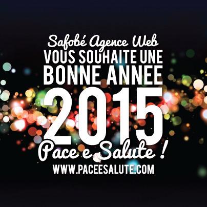 Pace e Salute - Voeux Safobé Agence Web 2015 | Communication #Web & Réseaux Sociaux | Scoop.it