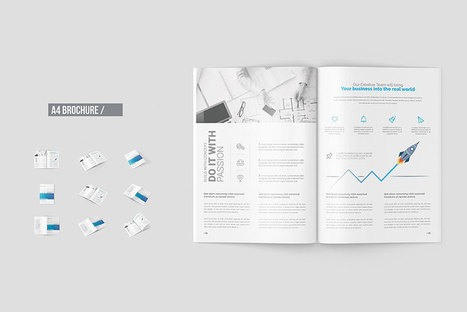 12 Free A4 Brochure Mockup Templates Graphic