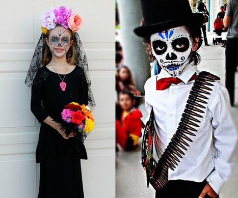 Disfraz de calavera mexicana para el Día de Muertos - PequeOcio | Mexicanos en Castilla y Leon | Scoop.it