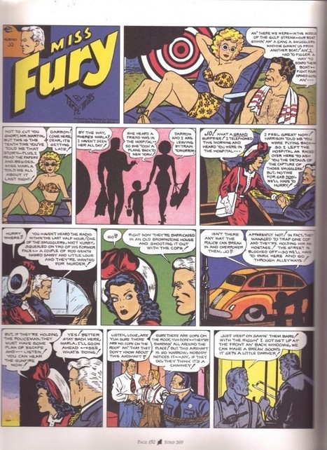 Frantic as a cardiograph scratching out the lines, Day 159: Miss Fury strip #269 | Comics Should Be Good! @ Comic Book Resources | Ladies Making Comics | Scoop.it