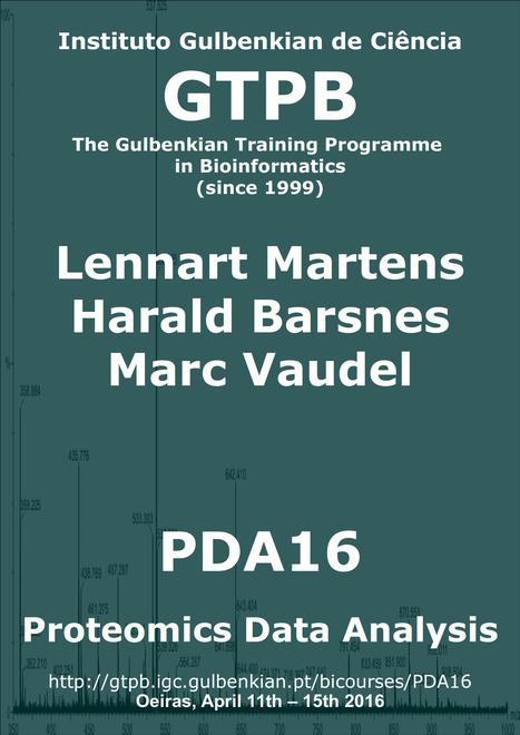 GTPB: PDA16 - Proteomics Data Analysis - Home | Bioinformatics Training | Scoop.it
