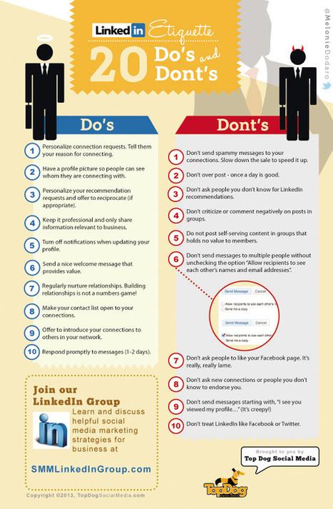Top 20 Do's and Dont's on LinkedIn - Social Media London | Profil Linkedin | Scoop.it