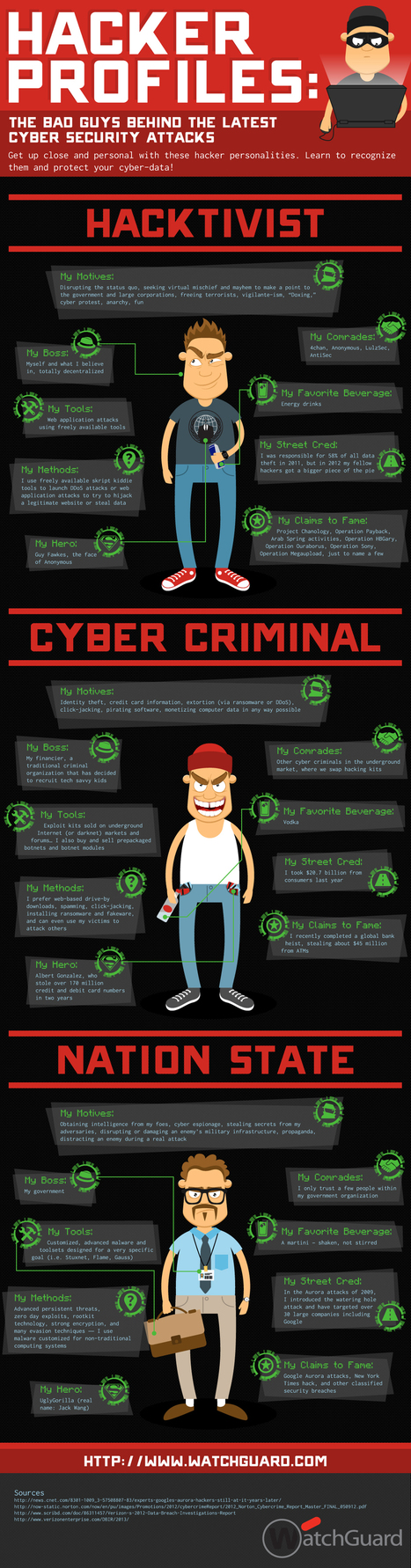 Hacker Profiles – The Bad Guys Of Online Security [Infographic] | Digital Culture | Scoop.it