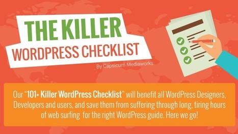 The Killer WordPress Checklist Infographic #WordPress | digital business IT marketing | Scoop.it
