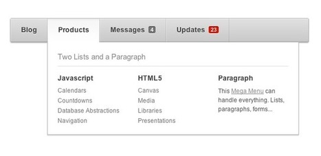 Awesome CSS3 Menu With jQuery Fallback – New on Premium | Webdesigntuts+ | All Javascript | Scoop.it
