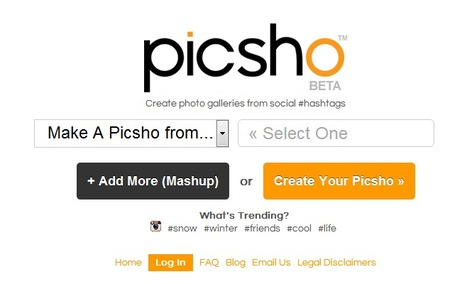 Create Photo Galleries From Social #hashtags With Picsho | transmedia re-creation | Scoop.it