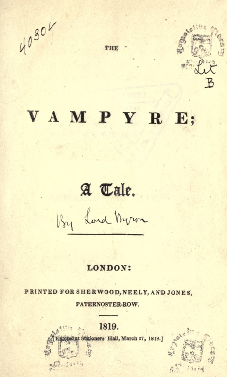 The Poet, the Physician and the Birth of the Modern Vampire | History Curiosity | Scoop.it