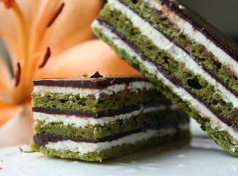 Matcha, Lemon and Chocolate Opera Cake :: Cannelle et Vanille | Just Chocolate!!! | Scoop.it