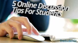 5 Online Discussion Tips For Students - Edudemic | Learning21 | Scoop.it